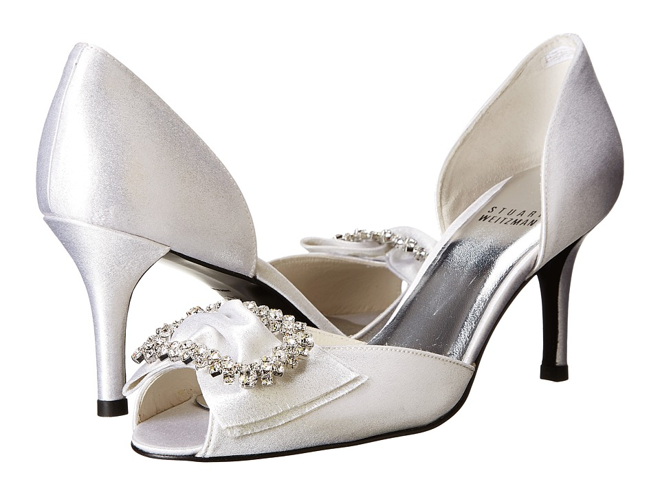 Stuart Weitzman Bridal & Evening Collection Glitsy (Silver Raso) High Heels