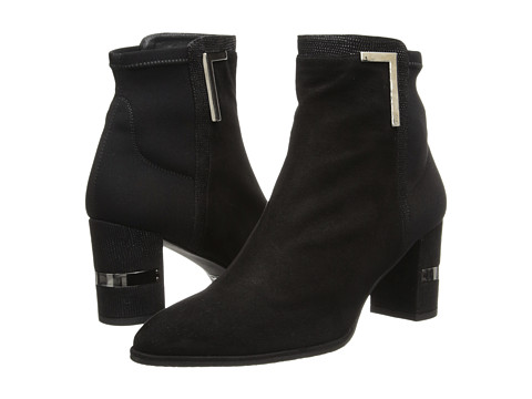 Stuart Weitzman - Scaffold (Black Suede) Women's Pull-on Boots