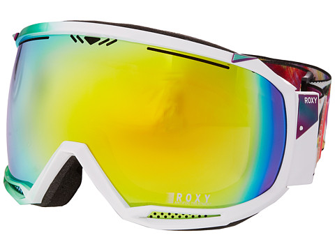 Roxy - Isis Google (White/HD Brown Multilayer Gold Lens) Snow Goggles