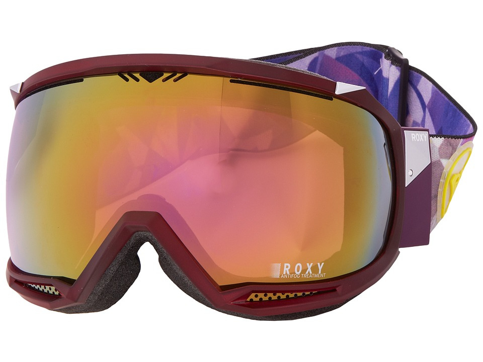 Roxy - Isis Google (Purple/HD Brown Multilayer Green Lens) Snow Goggles