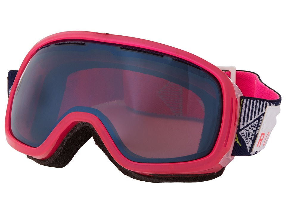 Roxy - Rockferry Goggle (Pink/Metallic Blue) Snow Goggles