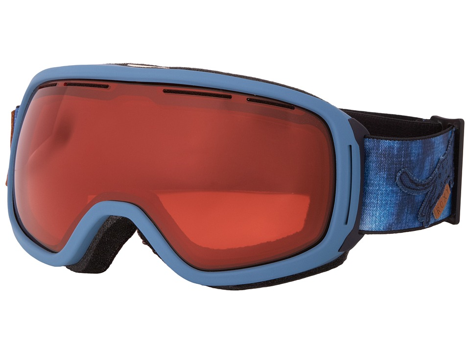 Roxy - Rockferry Goggle (Navy/Metallic Orange) Snow Goggles