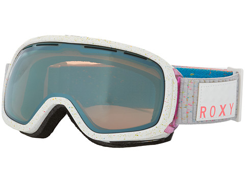 Roxy - Rockferry Goggle (White/Metallic Blue) Snow Goggles