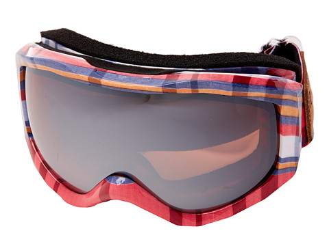 Roxy - Sunset Art Series Goggle (Pink Plaid/Amber Rose Silver Mirror) Snow Goggles