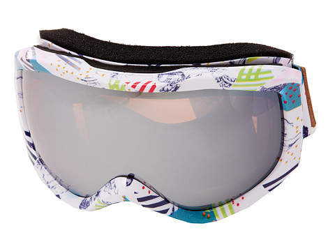 Roxy - Sunset Art Series Goggle (Storm Print/Amber Rose Silver Mirror) Snow Goggles