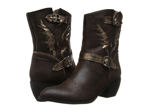 Roper - Metallic Wing Ankle Boot (Brown) Cowboy Boots