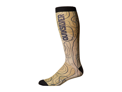 Quiksilver - Riding Socks (Topo Wool) Men's Knee High Socks Shoes