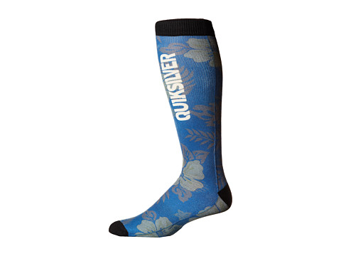 Quiksilver - Riding Socks (Aloha Floral) Men's Knee High Socks Shoes