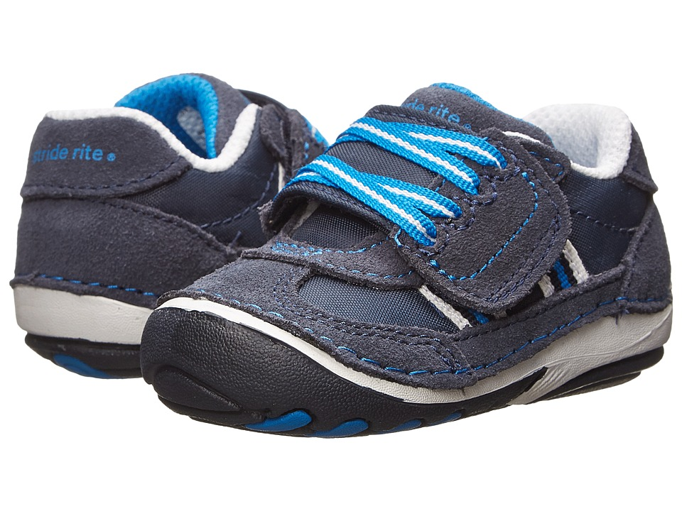 Stride Rite - SRT SM Hammet (Infant/Toddler) (Navy) Boy's Shoes