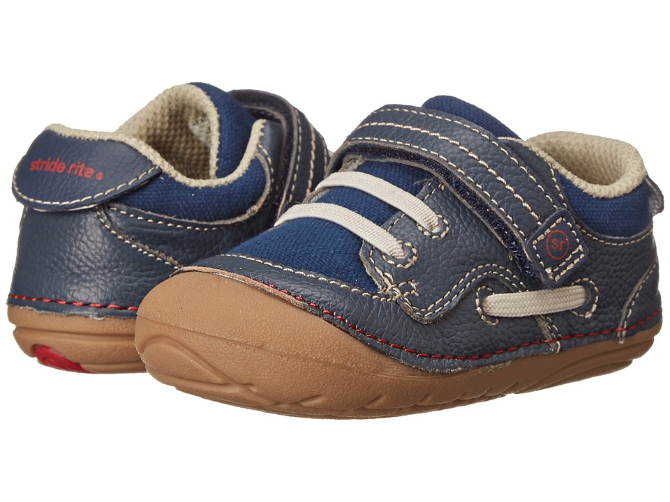 Stride Rite - SRT SM Dawson (Infant/Toddler) (Navy) Boy's Shoes