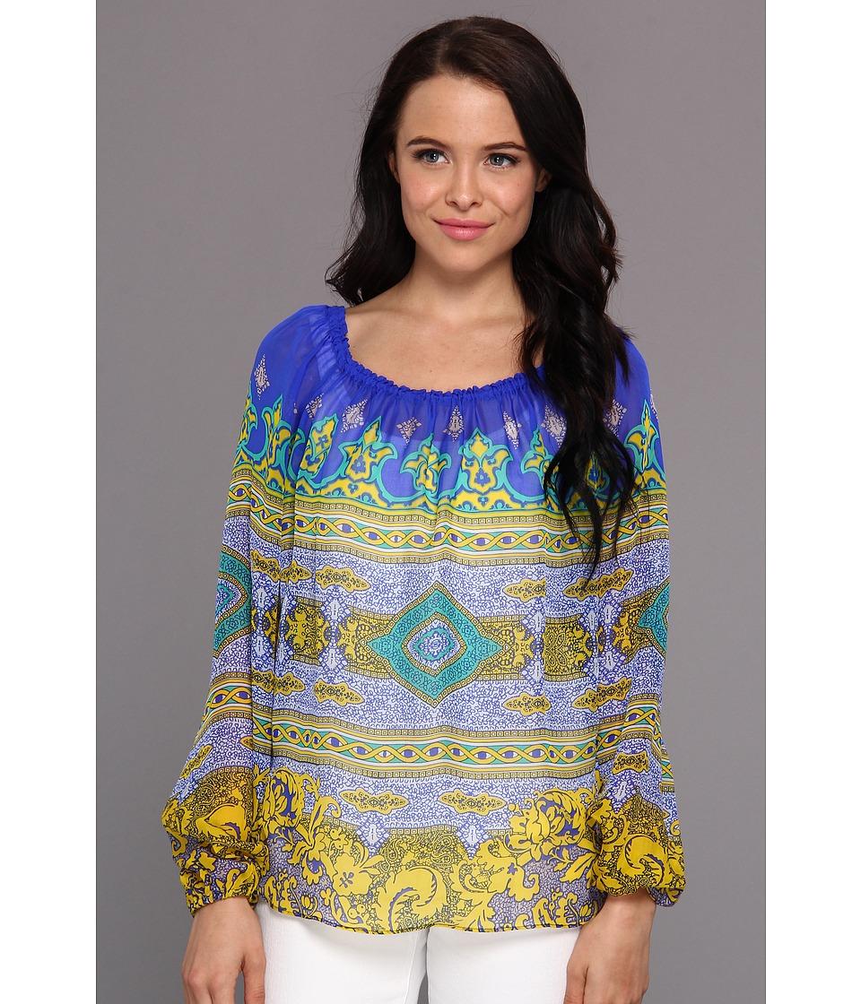 Hale Bob - Long Sleeve Tunic (Blue) Women's Blouse