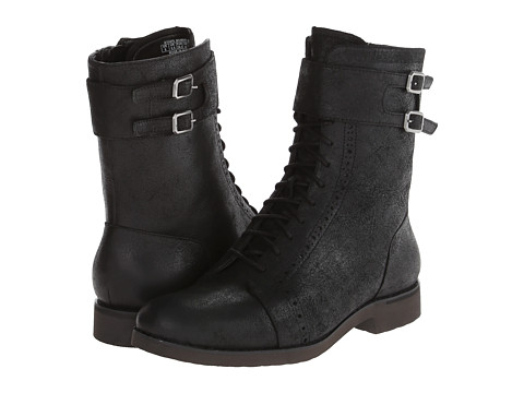 Rockport - Alanda Brogue Boot Lace-up w/ Double Strap (Black) Women's Lace-up Boots