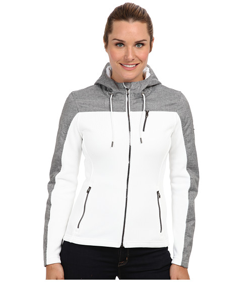 Spyder - Ardour GT Mid Weight Core Sweater (White/Graystone Crosshatch) Women