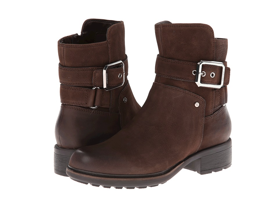 Rockport - First Street Moto Strap Bootie - Ankle (Ebano Burnished) Women