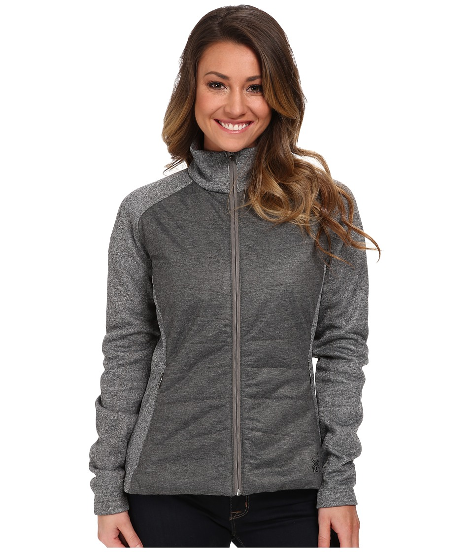 Spyder - Andees Mid Weight Core Sweater (Graystone Melange) Women