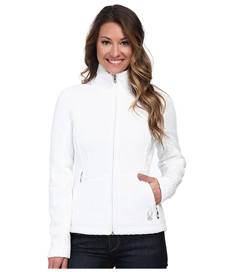 Spyder - Major Cable Core Sweater (White) Women's Coat