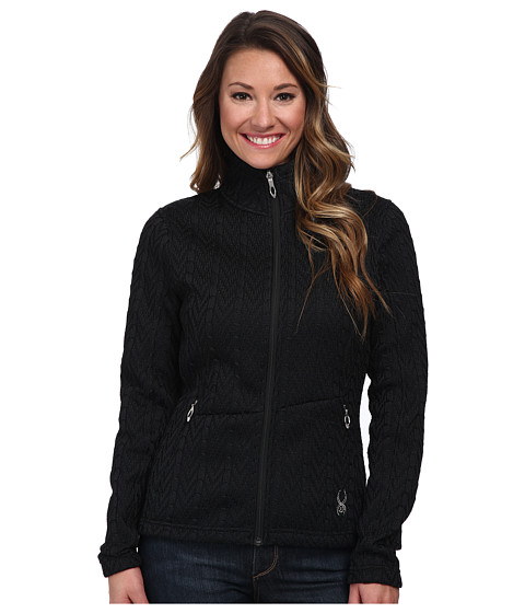 Spyder - Major Cable Core Sweater (Black) Women