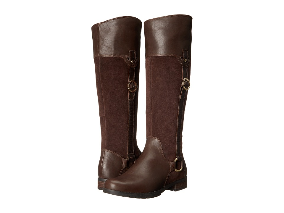 Rockport Tristina Buckle Riding Boot (Ebano Leather/Suede) Women