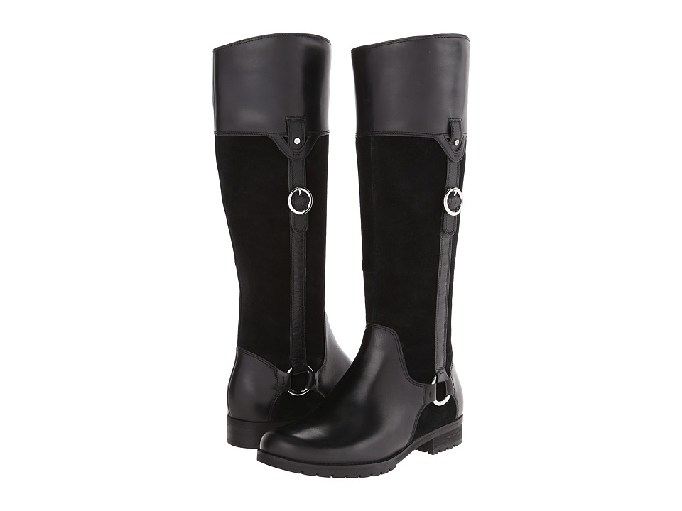 Rockport - Tristina Buckle - Riding Boot (Black Leather/Suede) Women's Boots