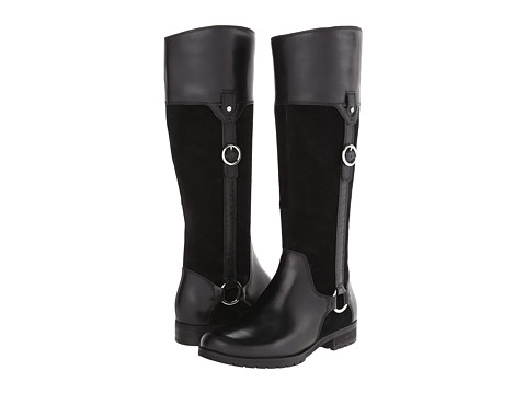 Rockport - Tristina Buckle - Riding Boot (Black Leather/Suede) Women