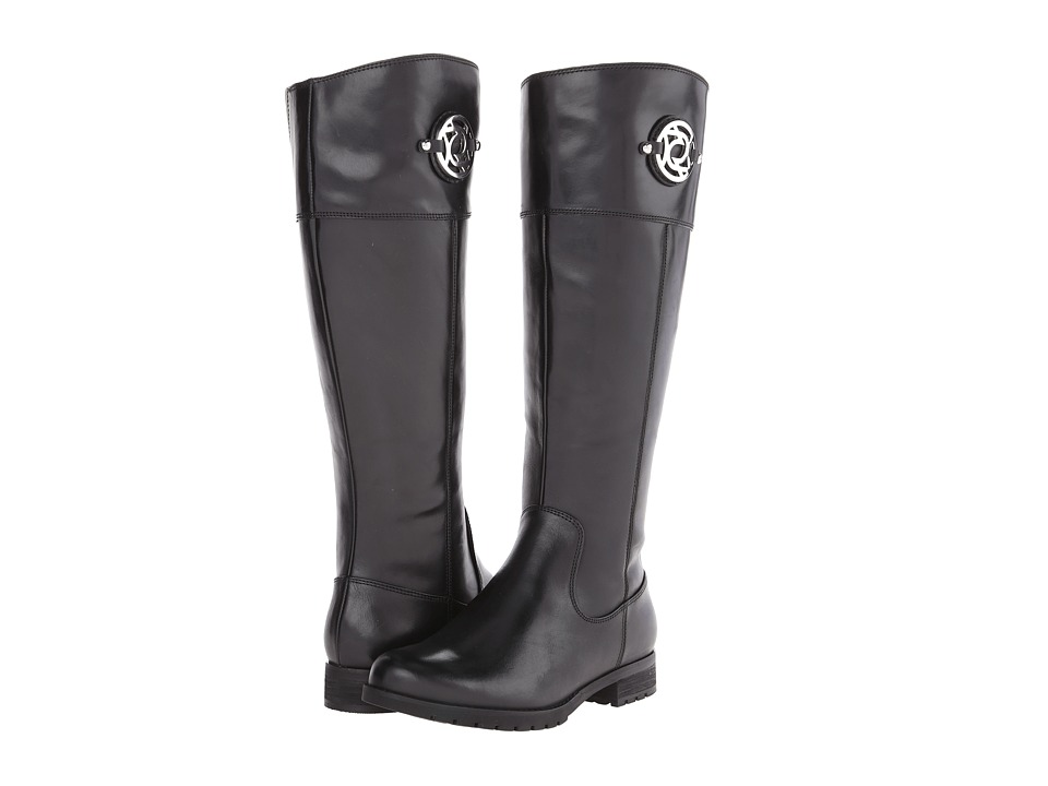 Rockport - Tristina Crest Riding Boot - Wide Calf (Black Leather - ES) Women