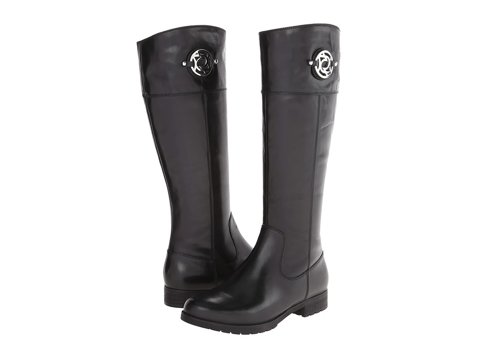 Rockport Tristina Crest Riding Boot (Black Leather) Women