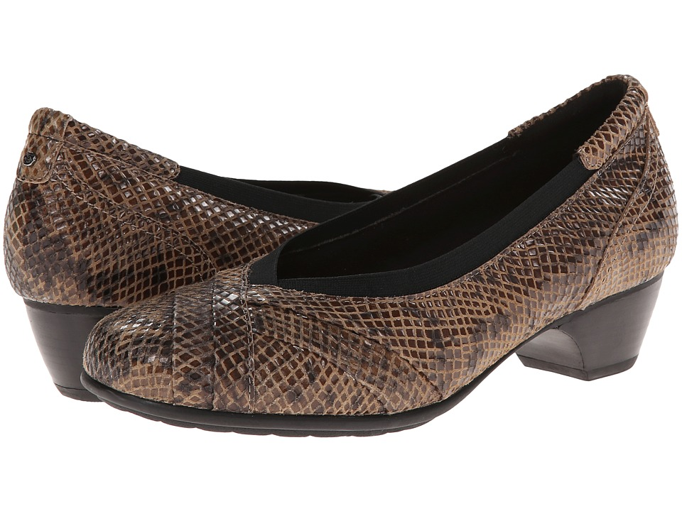 Aravon - Patsy (Taupe Snake) Women's Shoes