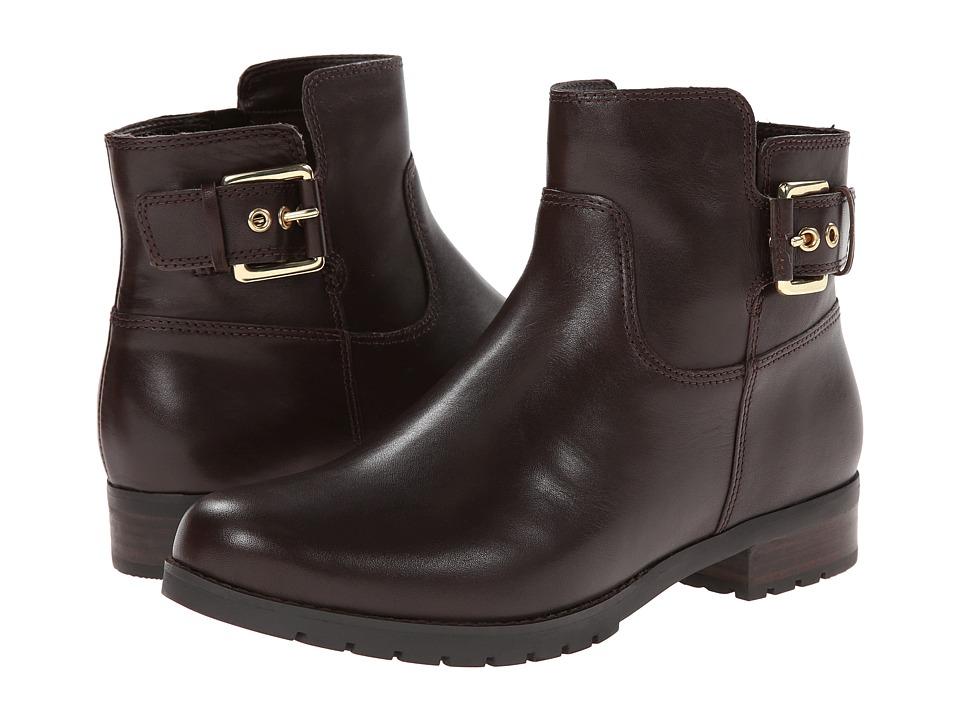 Rockport - Tristina Buckle Ankle Bootie (Dark Brown Smooth) Women
