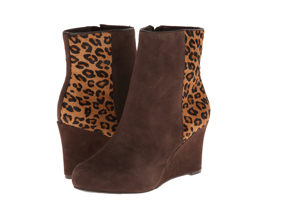 Rockport Seven To 7 85mm Wedge Bootie (Ebano/Brown Leopard Print) Women