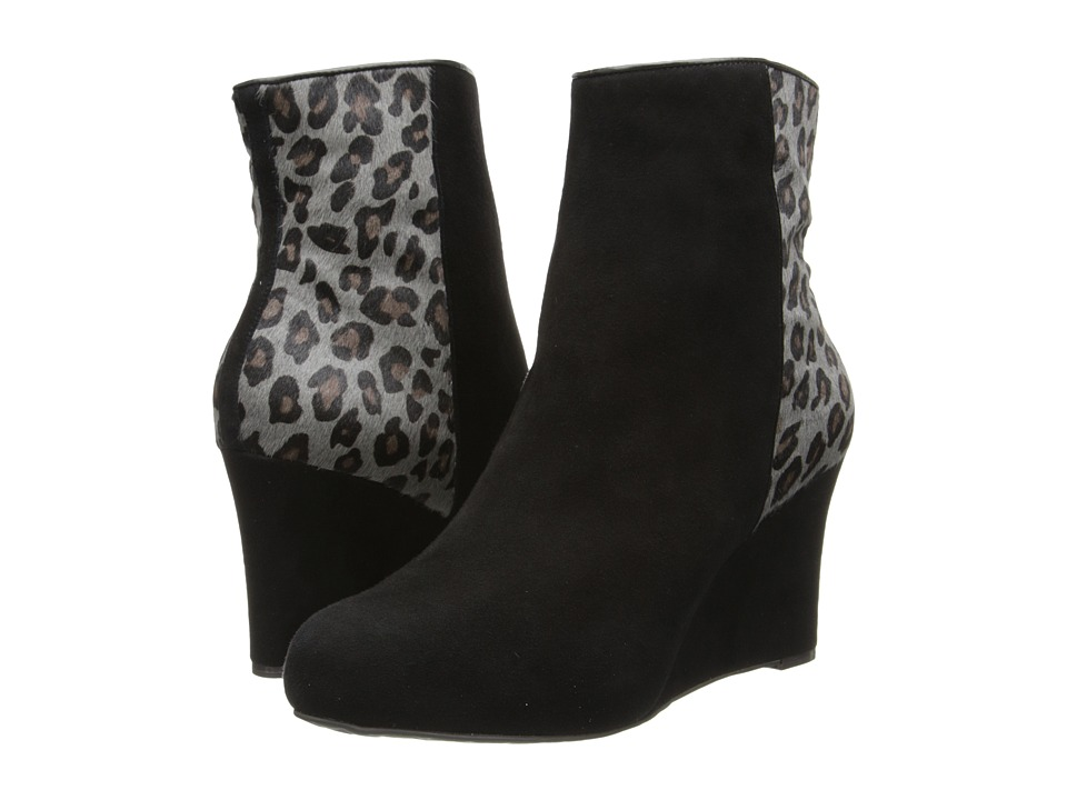 Rockport Seven To 7 85mm Wedge Bootie (Black/Grey Leopard Print) Women