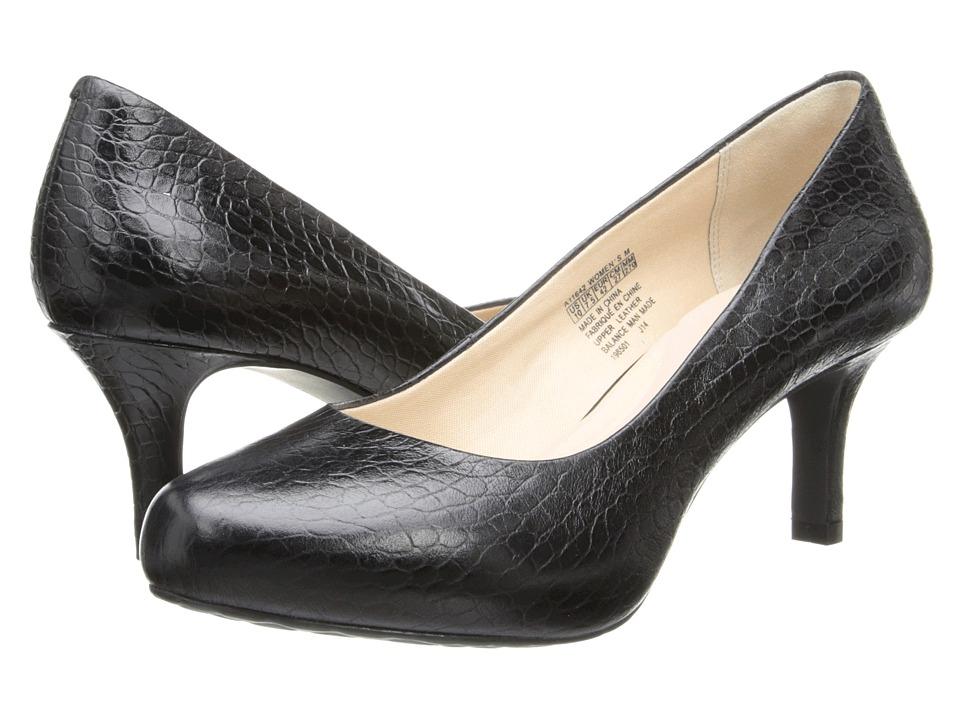 Rockport Seven to 7 Low Pump (Black Croco) High Heels