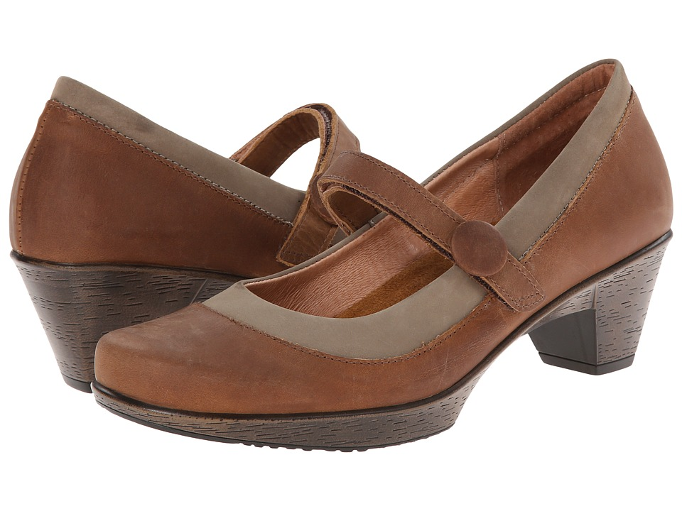 Naot Footwear - Latest (Saddle Brown Leather/Clay Nubuck) Women's Flat Shoes
