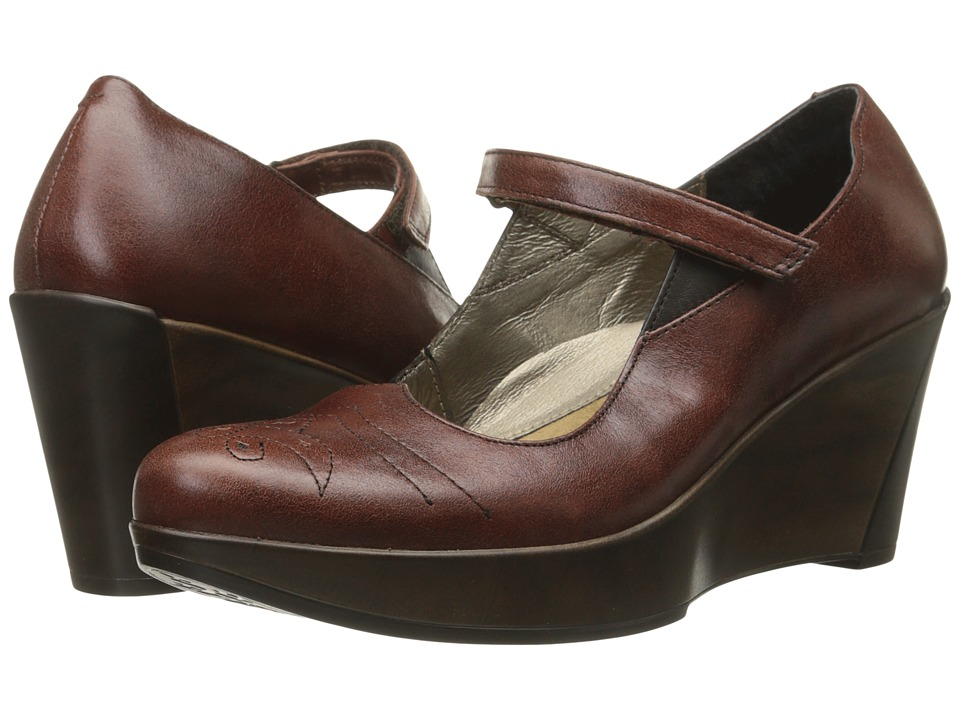 Naot Footwear - Alma (Luggage Brown Leather/French Roast Leather) Women