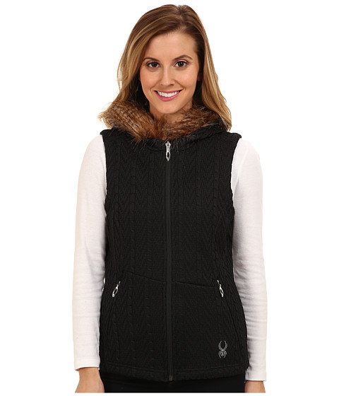 Spyder - Major Cable Core Sweater Vest (Black) Women