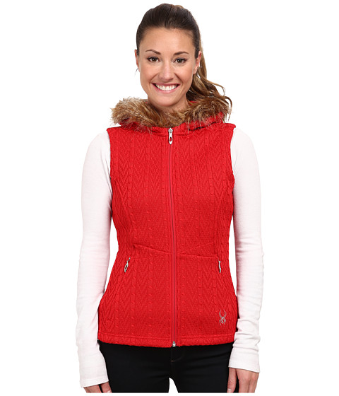Spyder - Major Cable Core Sweater Vest (Vampire) Women