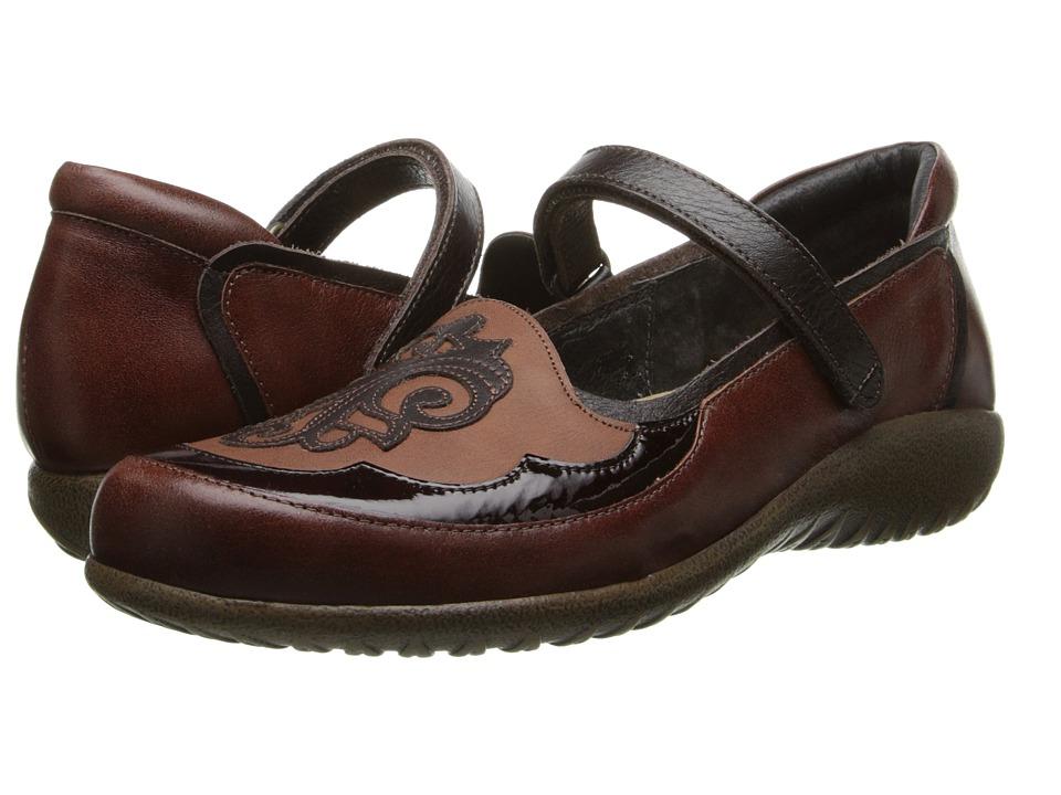 Naot Motu (Luggage Brown Leather/Cinnamon Leather) Women