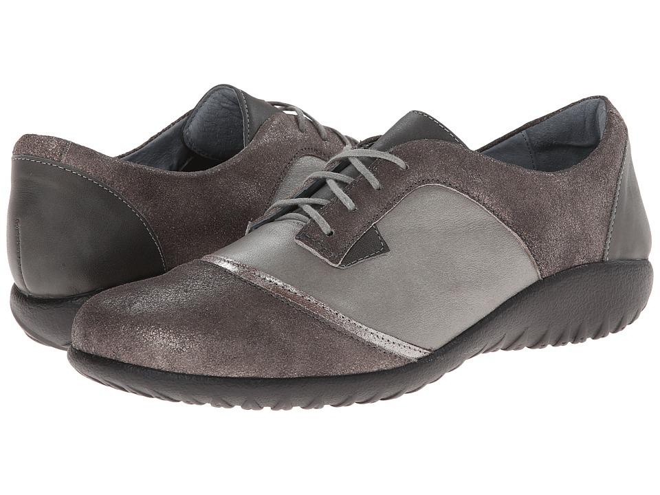 Naot Harore (Rainy Gray Leather/Gray Shimmer Leather/Shadow Gray Nubuck) Women