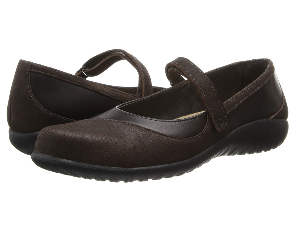 Naot Footwear - Kukamo (French Roast Leather/Mine Brown Leather) Women's Flat Shoes