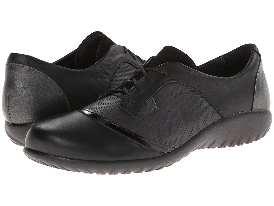 Naot Footwear - Harore (Onyx Leather/Jet Black Leather/Black Suede/Jet Black Leather) Women's Flat Shoes