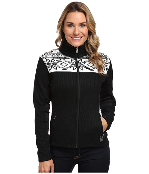 Spyder - Criss Mid Weight Core Sweater (Black/White) Women's Sweater