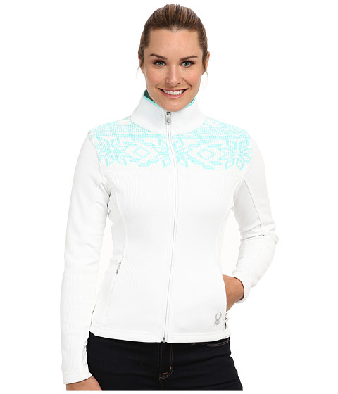 Spyder - Criss Mid Weight Core Sweater (White/Chill) Women's Sweater