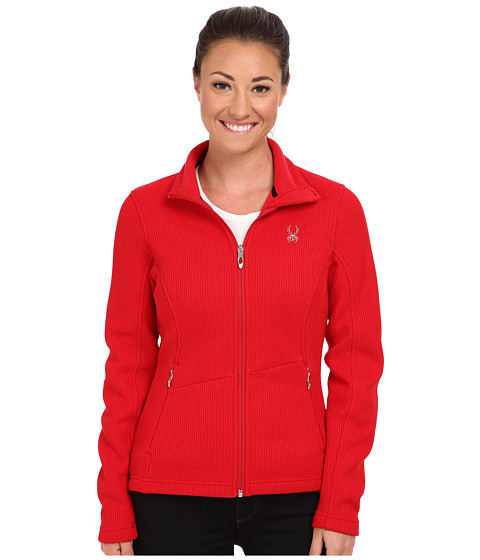 Spyder - Endure Full Zip Mid Weight Sweater (Vampire) Women