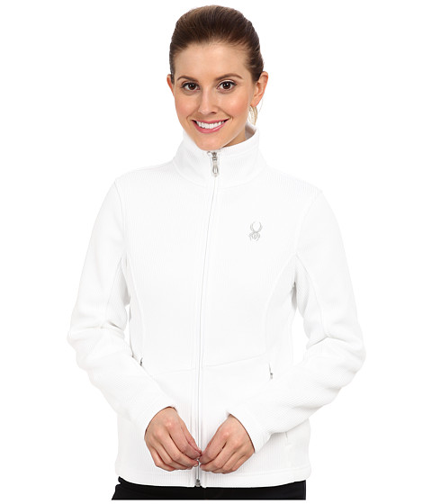 Spyder - Endure Full Zip Mid Weight Sweater (White) Women's Sweater