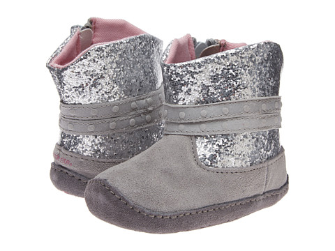 Stride Rite - Crawl Glittery (Infant/Toddler) (Silver/Grey) Girls Shoes