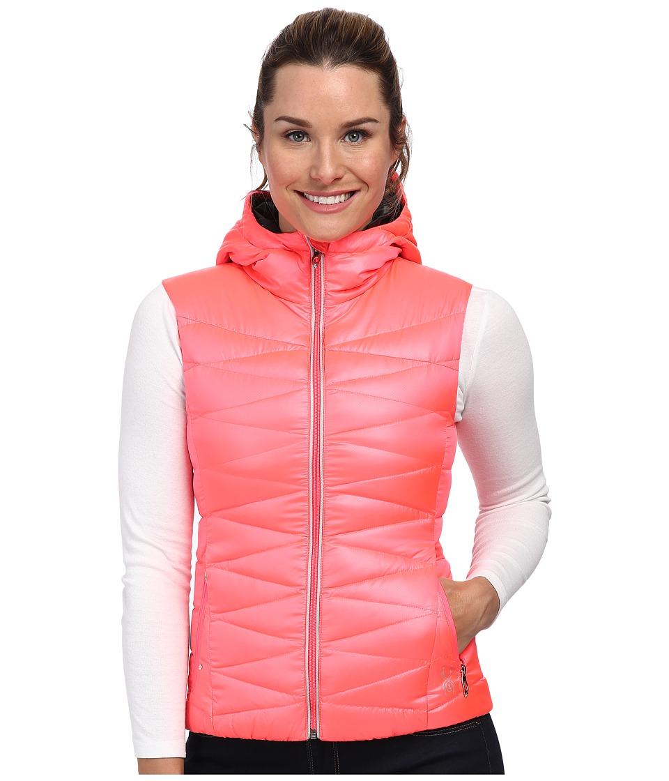 Spyder Timeless Hoodie Down Vest (Bryte Pink/Black) Women
