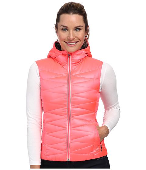 Spyder - Timeless Hoodie Down Vest (Bryte Pink/Black) Women's Vest