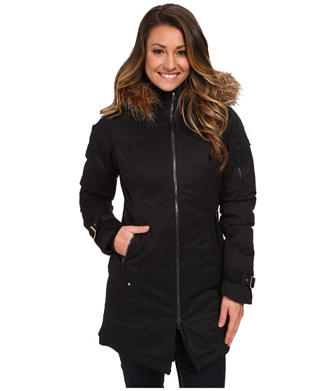Spyder - GT w/ Faux Fur Synthetic Down Jacket (Black) Women