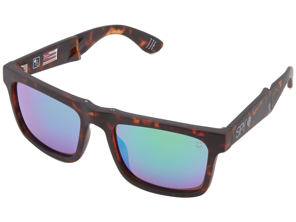 Spy Optic - The Fold (Matte Camo Tort/Happy Bronze w/ Green Spectra) Sport Sunglasses