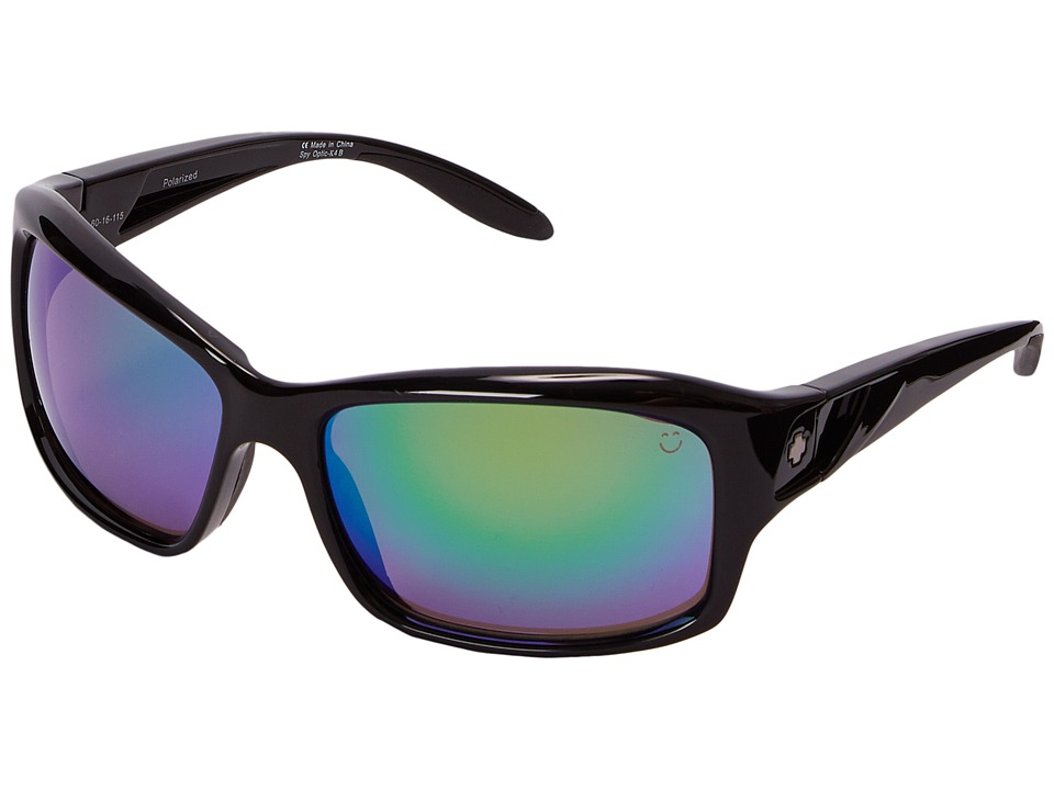 Spy Optic - Libra (Black/Happy Bronze Polar w/ Green Spectra) Sport Sunglasses
