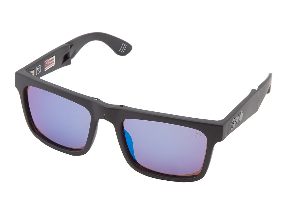 Spy Optic - The Fold (Matte Black/Happy Bronze Polar w/ Blue Spectra) Sport Sunglasses